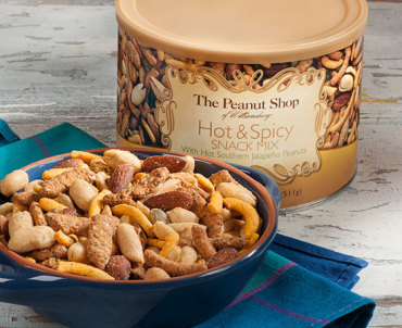 Hot & Spicy Snack Mix with Hot Southern Jalapeno Peanuts