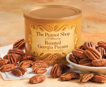 Roasted and Salted Pecans - The Peanut Shop of Williamsburg