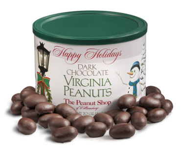 Holiday Snowfall Dark Chocolate Virginia Peanuts