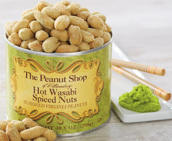 Hot Wasabi Spiced Peanuts