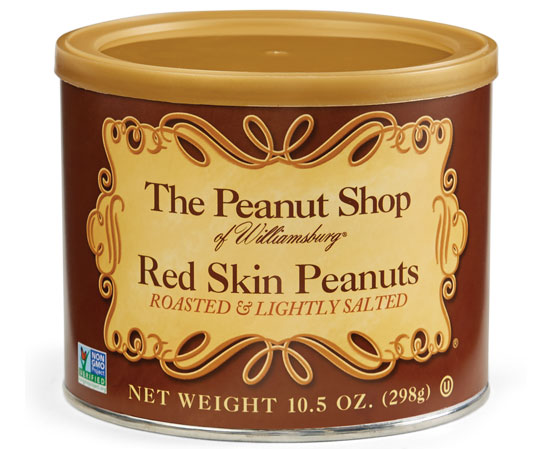 Red Skin Peanuts Can