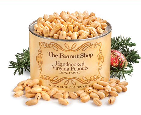 Handcooked Virginia Peanuts, Christmas - The Peanut Shop of Williamsburg