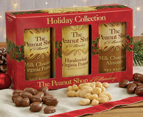 Holiday Gift Box with Salted Peanuts