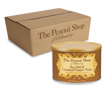 Salt & Pepper Peanuts, 6 - 32 oz. Tins