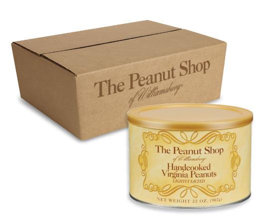Lightly Salted Handcooked Virginia Peanuts Case Packs