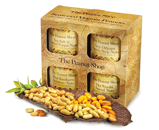 Seasoned Virginia Peanuts 4-Pack Gift Box