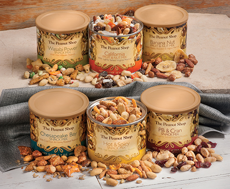 6 Tin Snack Mix Sampler
