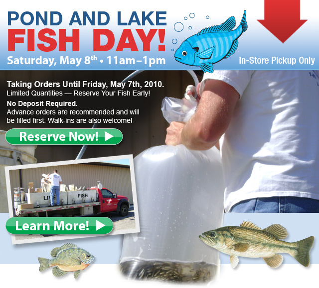 Pond & Lake Fish Day - May 8th