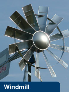 Picture of a Windmill-Powered Aeration System