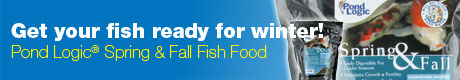 Get your fish ready for wither with Pond Logic® Spring and Fall Fish Food!