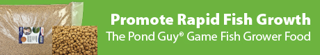 Promote Rapid Fish Growth - The Pond Guy® Game Fish Grower Fish Food
