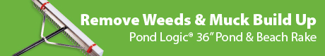 Pond Logic Pond & Beach Rake - Remove Weeds & Muck Build Up