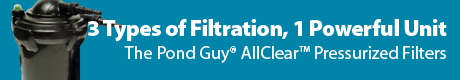 The Pond Guy® AllClear™ Pressurized Filters - 3 Types of Filtration, 1 Powerful Unit
