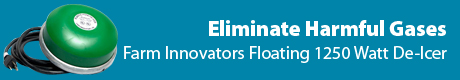 Eliminate Harmful Gases- Farm Innovators Floating 1250 Watt De-Icer