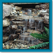 Q: Are there different steps for treating a pondless waterfall versus a pond?