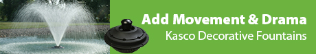 Add Movement & Drama To Your Pond - Kasco Decorative Fountain