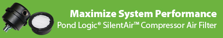 Maximize System Performance - Pond Logic® SilentAir™ Piston Compressor Air Filter