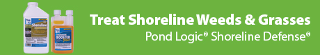 Safely Treat Shoreline Weeds & Grasses - Pond Logic® Shoreline Defense® & Treatment Booster™ PLUS