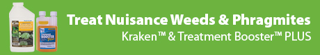 Treat Nuisance Weeds & Phragmites - Kraken™ Aquatic Herbicide & Treatment Booster™ PLUS