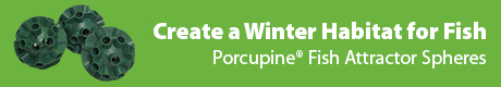 Create a Winter Habitat for Game Fish - Porcupine® Fish Attractor Spheres