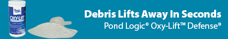 Debris Lifts Away in Seconds - Pond Logic (r) Oxy-Lift™ Defense®