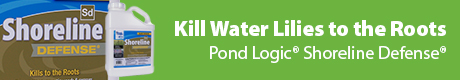 Kill Water Lilies and Other Emergent Weeds - Pond Logic(r) Shoreline Defense(r)