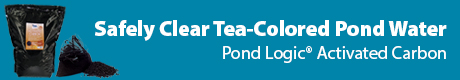 Safely Clear Tea Colored Water - Pond Logic (r) Activated Carbon