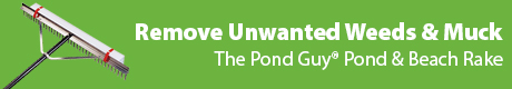 Remove Unwanted Weeds & Muck Build Up  - The Pond Guy(r) Pond and Beach Rake