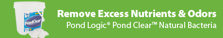 Remove Excess Nutrients & Odor - Pond Logic (r) PondClear (t) Natural Bacteria