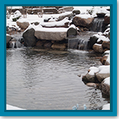 Q: If I run my waterfall pump for a few hours a day during winter, will my fish be OK?