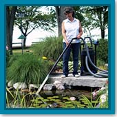 Q: If I can't do a big spring cleanout on my pond, what is the best way to get the debris out of the pond?