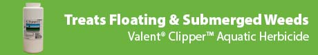 Treats Floating & Submerged Weeds - Valent® Clipper™ Aquatic Herbicide