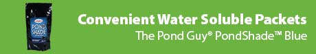 Convenient Water Soluble Packets - The Pond Guy® PondShade™ Blue