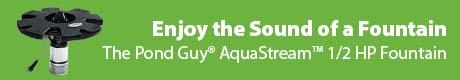 Enjoy the Sound of a Fountain - The Pond Guy® AquaStream™ 1/2 HP Fountain