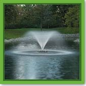 Q: I have an old sump pump. Can I use it to create a fountain for my pond?