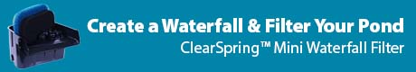 Create a Waterfall & Filter Your Pond - The Pond Guy® ClearSpring™ Mini Waterfall Filter