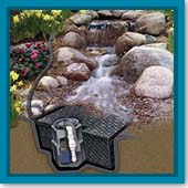 Q: How do I calculate what size basin I need for a pondless waterfall?