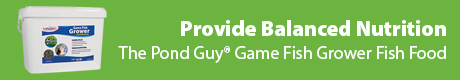 Provide Balanced Nutrition - The Pond Guy(r) Game Fish Grower Fish Food