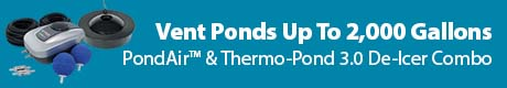 Vent Ponds Up To 2,000 Gallons - PondAir™ &;amp Thermo-Pond 3.0 De-Icer Combo