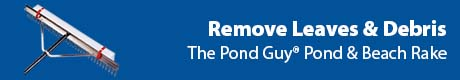 Remove Leaves & Debris - The Pond Guy® Pond & Beach Rake
