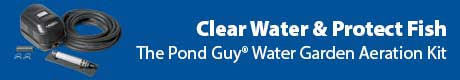 Clear Water and Protect Fish - The Pond Guy® Water Garden Aeration Kit