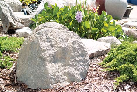 Decorative well covers landscape faux rocks the pond guy for Decorative fish pond covers