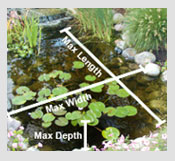 How do I calculate my pond size?