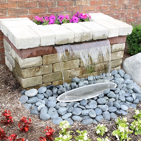 My mom wants a water feature but needs something easy to maintain. Any suggestions?