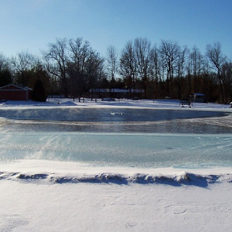 I have an aeration system but the pond is frozen over, am I still getting aeration?