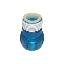 Aqua Ultraviolet Quartz Cap w/ Ring