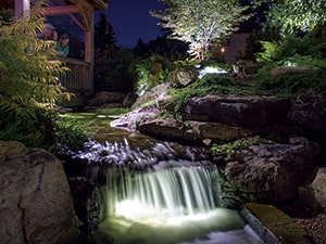 Aquascape Waterfall And Up Light The Pond Guy