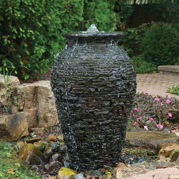 Aquascape Stacked Slate Urn Landscape Fountain Kits