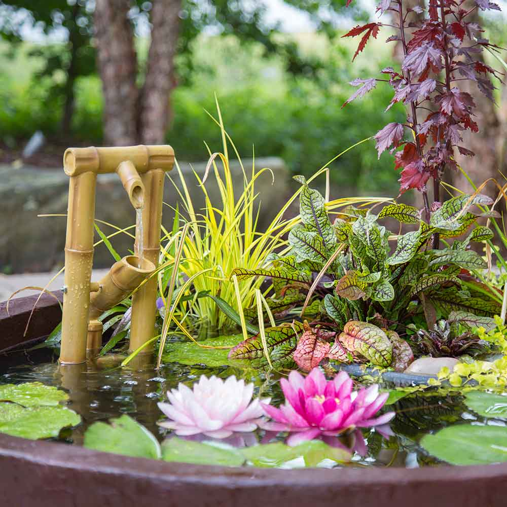 Aquascape Deer Scarer Bamboo Fountain The Pond Guy