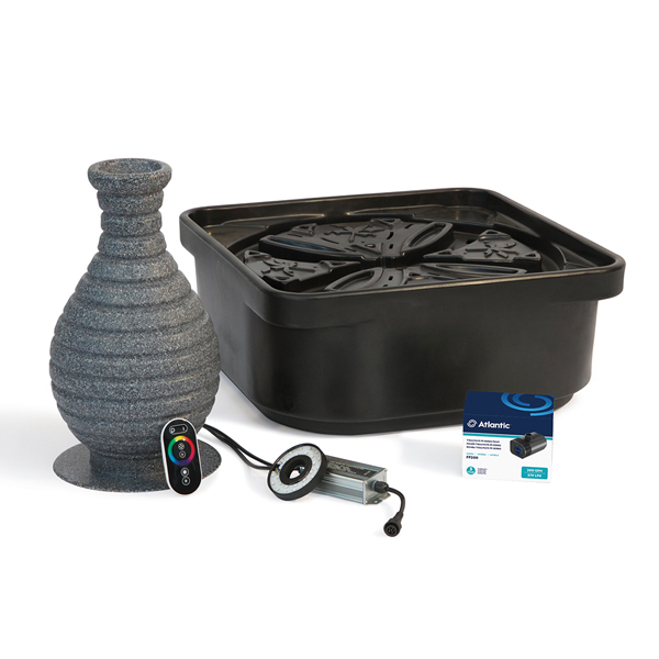 Atlantic™ Color Changing Vase Fountain & Basin Kits